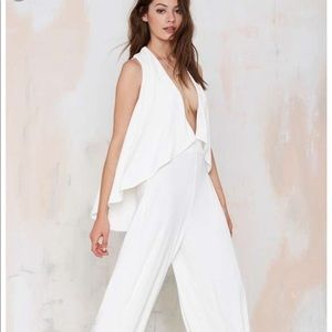 Nasty Gal White Jumpsuit